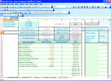10 Npv Irr Excel Template Exceltemplates Exceltemplates Npv Excel Template