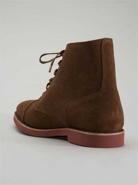 over the ankle boots for lyst walk over ankle boots in brown for men