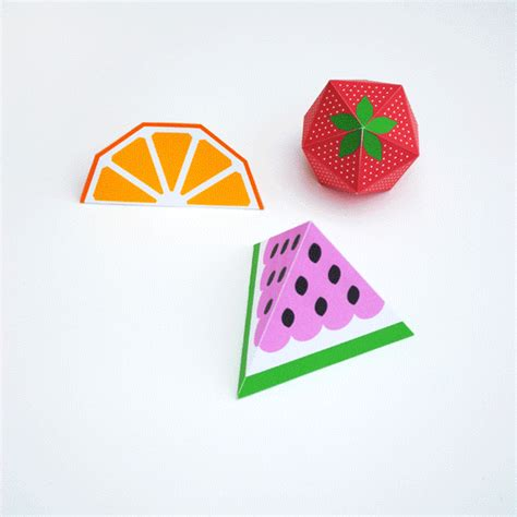 3d paper crafts templates watermelon bunting template 3d fruit minieco