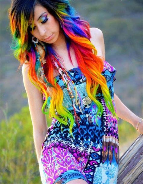 rainbow hair colors rainbow hair color strayhair