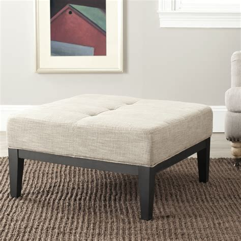 ottomans home collection safavieh hudson collection fulton small square cocktail