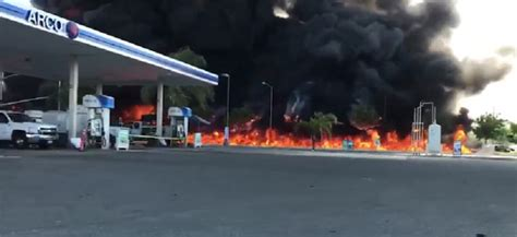 tanker truck driver killed in crash that sprayed out an