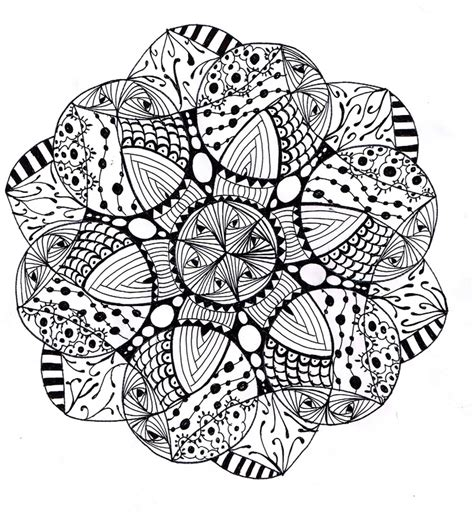 zentangle mandala coloring pages zendala crafts zentangles pinterest zentangle