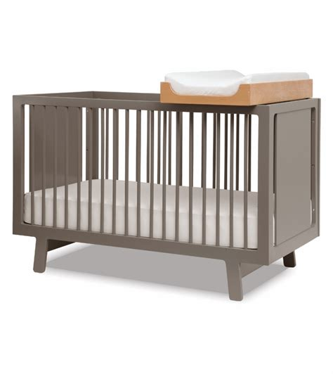 Oeuf Sparrow Changing Table Oeuf Sparrow Collection Crib In Gray