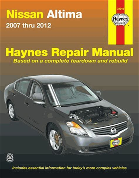 books about how cars work 2007 nissan altima instrument cluster nissan altima repair service manual 2007 2012