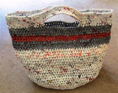 crochet pattern plastic bag tote crocheted bags my recycled bags com