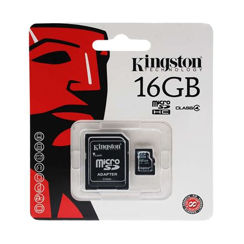 Micro Sd 16gb kingston micro sd sdhc memory card 16gb class 4 with size sd card adapter