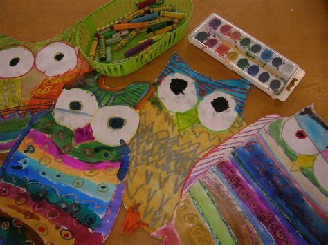 pattern owls art lesson the elementary art room pattern owls