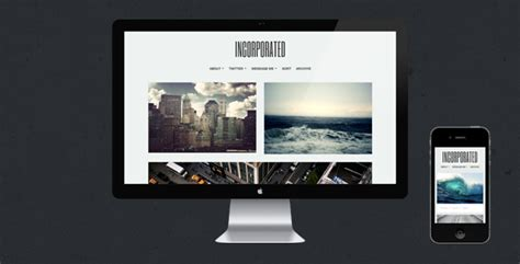 tumblr themes free large photos incorporated tumblr theme by getthemed themeforest