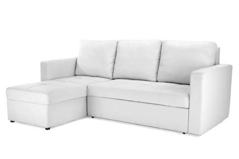 white sectional sofa bed white faux leather sectional sofa bed with left facing