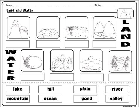 bodies of water worksheet all worksheets 187 types of landforms worksheets printable