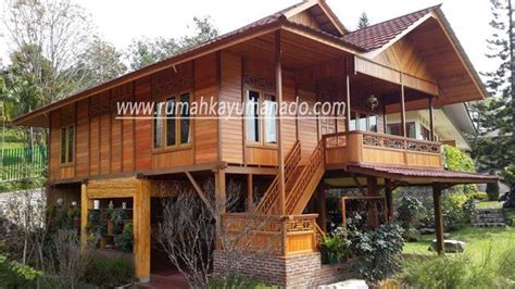 rumah kayu manado produsen rumah kayu knock  rumah kayu panggung rumah kayu modern