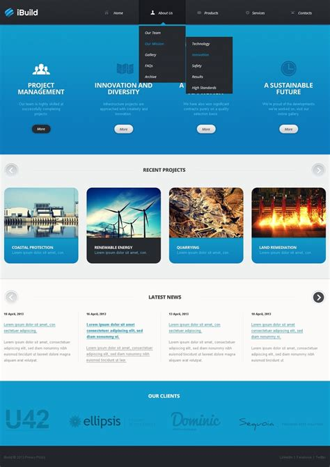 themes website html civil engineering website template 42111