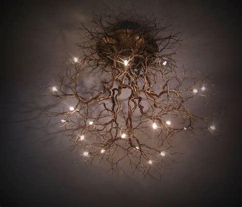 lampadario radici  albero house lampara arana de