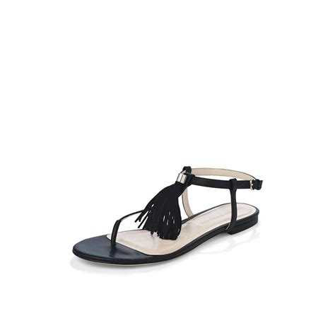 sandals with tassels club monaco darla tassel sandal in black lyst