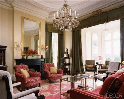 red ochre traditional modern barcelona chair bedroom