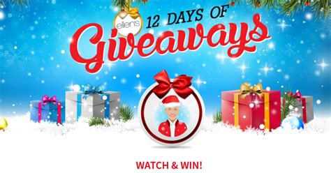 How To Get Tickets To Ellen S 12 Days Of Giveaways - best 28 degeneres 12 days of christmas gifts how to