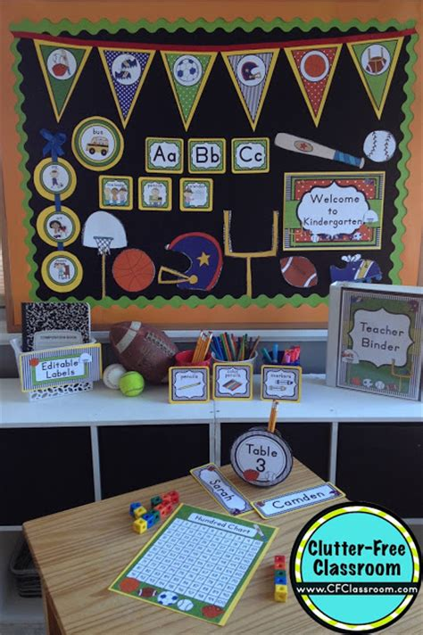 decorations for sports themed sports themed classroom ideas printable classroom