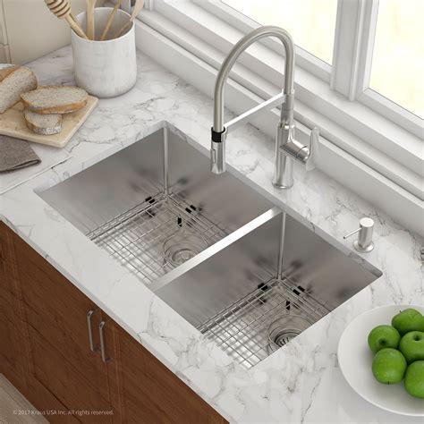 double kitchen plumbing stainless steel kitchen sinks kraususa com