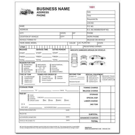gate receipt template 8 best towing invoice images on tow truck