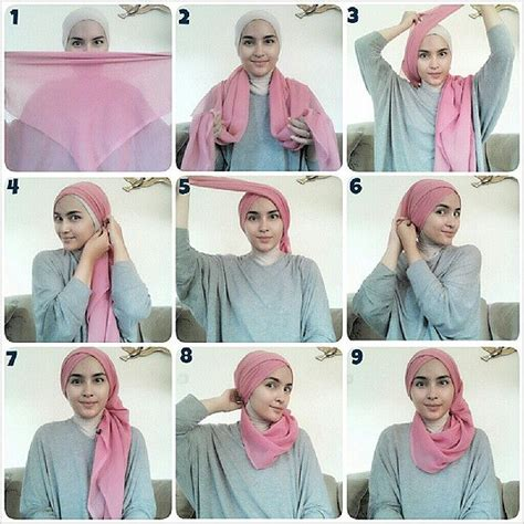 tutorial hijab paris remaja simple hijab tutorial hijab lover pinterest