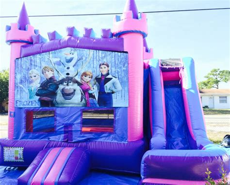 frozen house 5 in 1 combo bounce houses my bounce house rentals palm beach county party rental