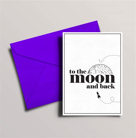 To The Moon And Back Valentines Day Card Template by To The Moon And Back Valentines Or Anniversary Card By