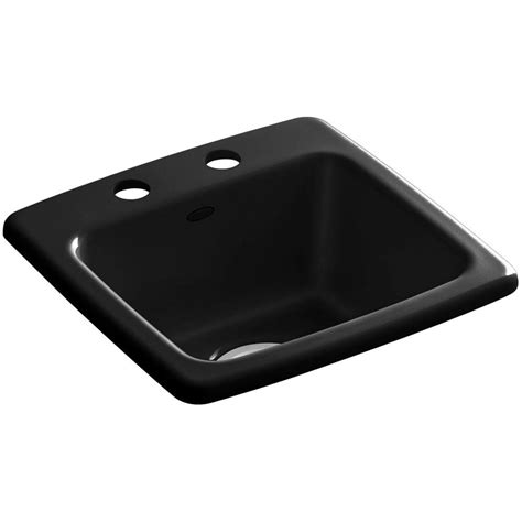 kohler drop in sinks kohler gimlet drop in acrylic 15 in 2 hole single bowl