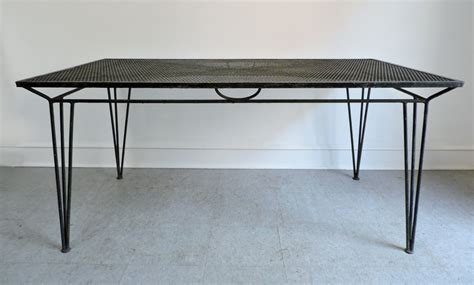 Large Patio Tables Salterini Mid Century Modern Large Wrought Iron Patio Dining Table Haute Juice