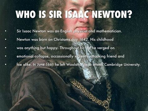 isaac newton biography project science project by tristan warzynski
