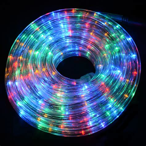 12m multi colour flashing led multi function rope lights