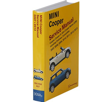 car repair manuals online pdf 2008 mini cooper clubman spare parts catalogs front cover mini cooper service manual 2007 2013 bentley publishers repair manuals and