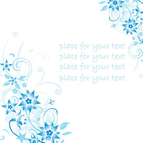 patterned blue u logo simple handpainted flowers and blue text background