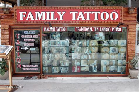 Family Tattoo Krabi | 5 best tattoo shops in krabi bamboo and machine tattoos