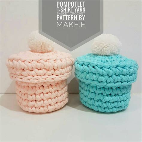 crochet pattern for yarn basket t shirt yarn pompotlet basket crochet pattern