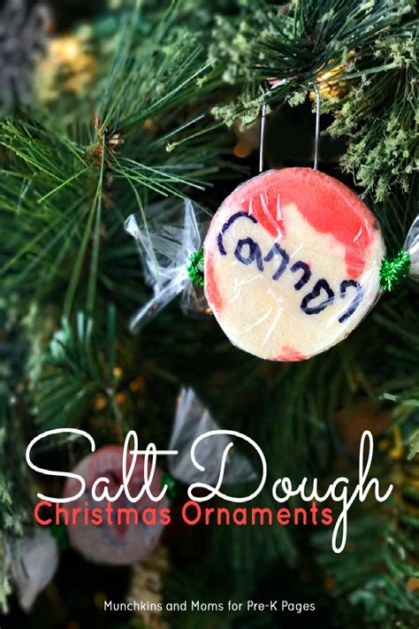 christmas ornament project for pre k salt dough ornaments for