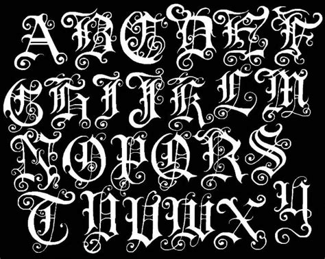 classic tattoo font letter alphabet alphabet graffiti