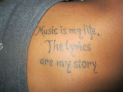 music quote tattoos and lyrics quote