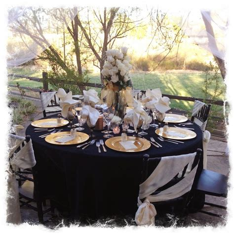 Black And Gold Table Decorations by Black Gold Ivory Anniversary Table Setting