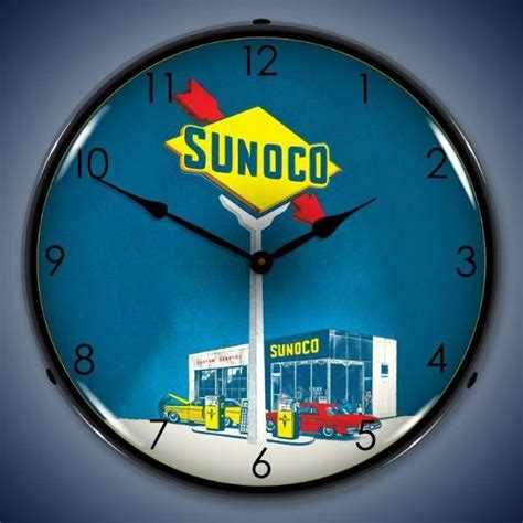 sunoco lighted signs for sale find sunoco service station lighted 14 quot wall clock sign