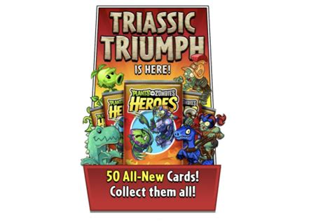 pvz hereos card template pvz heroes triassic triumph card list all 50 new cards