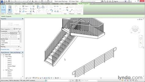 revit handrail tutorial using profiles in stairs and railings