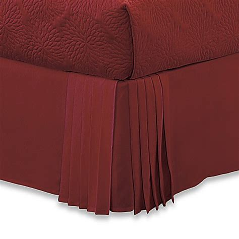 corner queen bed dkny pleated corner queen bed skirt bed bath beyond
