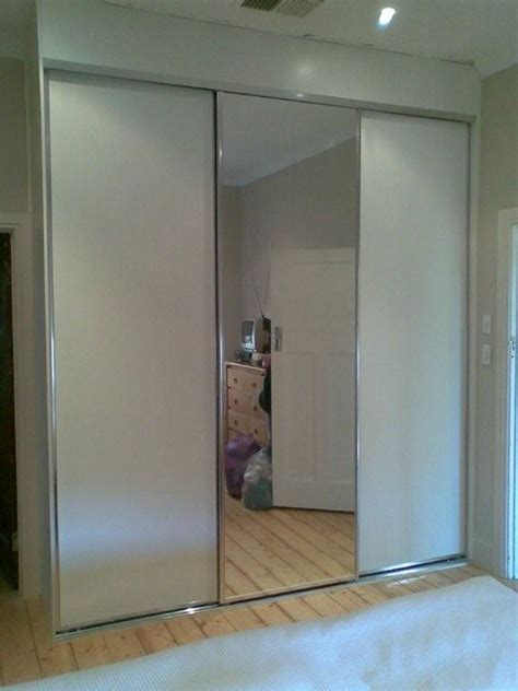 Wardrobe Space Savers by Space Saver With Mirror Vinyl Sliding Doors The Wardrobe