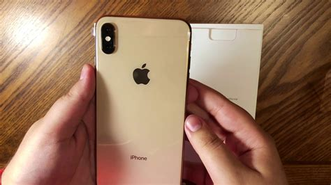 iphone xs max gold color 64gb unboxing on iphone x