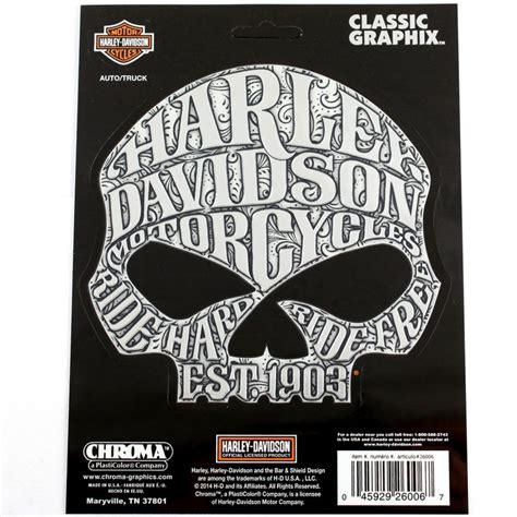 Harley Aufkleber Chrom by Biker Harley Davidson Hd Sugar Skull Logo Chrom Emblem