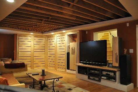 finish basement ceiling exposed ceiling in the basement basement ideas