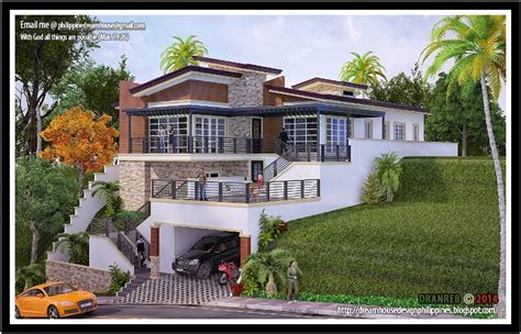 how to construct a house on a land of 25 40 architect bernard cadelina house in a sloping land