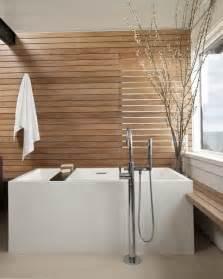Bathroom designs nice wooden wall bright interior japanese soaking