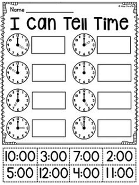 clock worksheets cut and paste it s about time math activities for kids pinterest